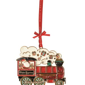 Decoratiune Craciun metalica in cutie eleganta-Trenuletul Mosului
