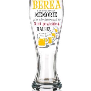 """Pahar de bere """"Sirop pentru memorie""""."""