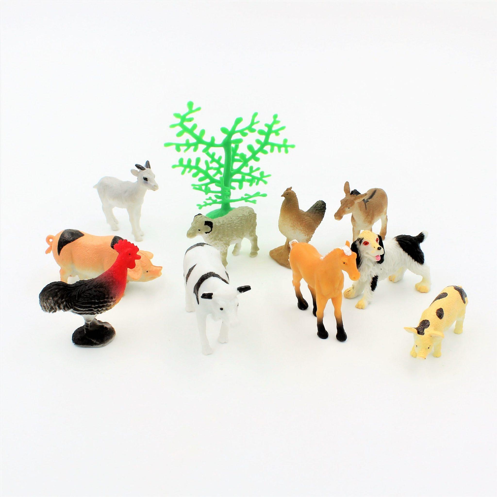 Set diverse figurine animale domestice Farm