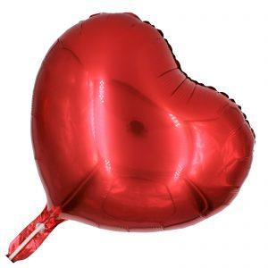Balon roșu sub formă de inima