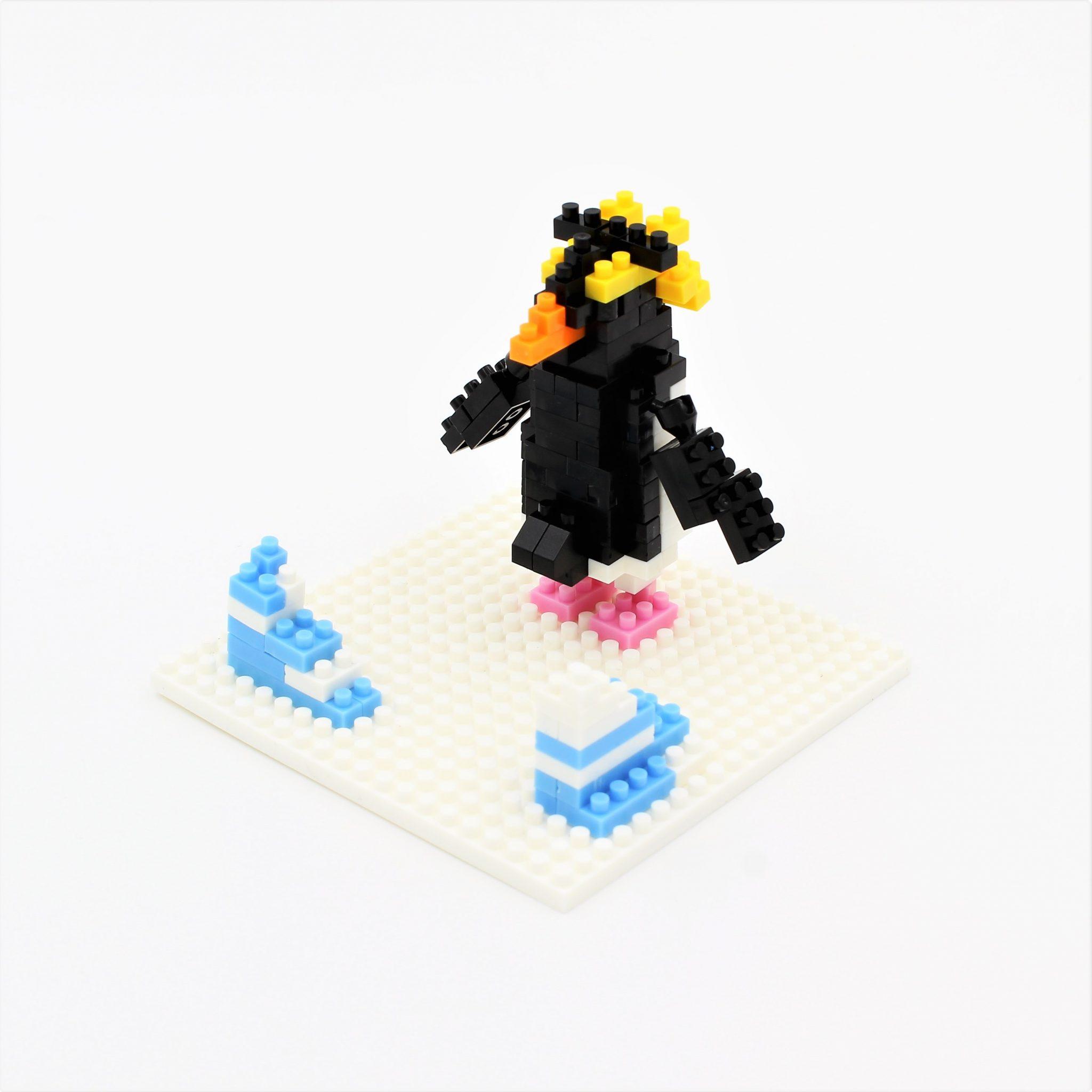 Set constructie Microbricks pinguin 169 piese