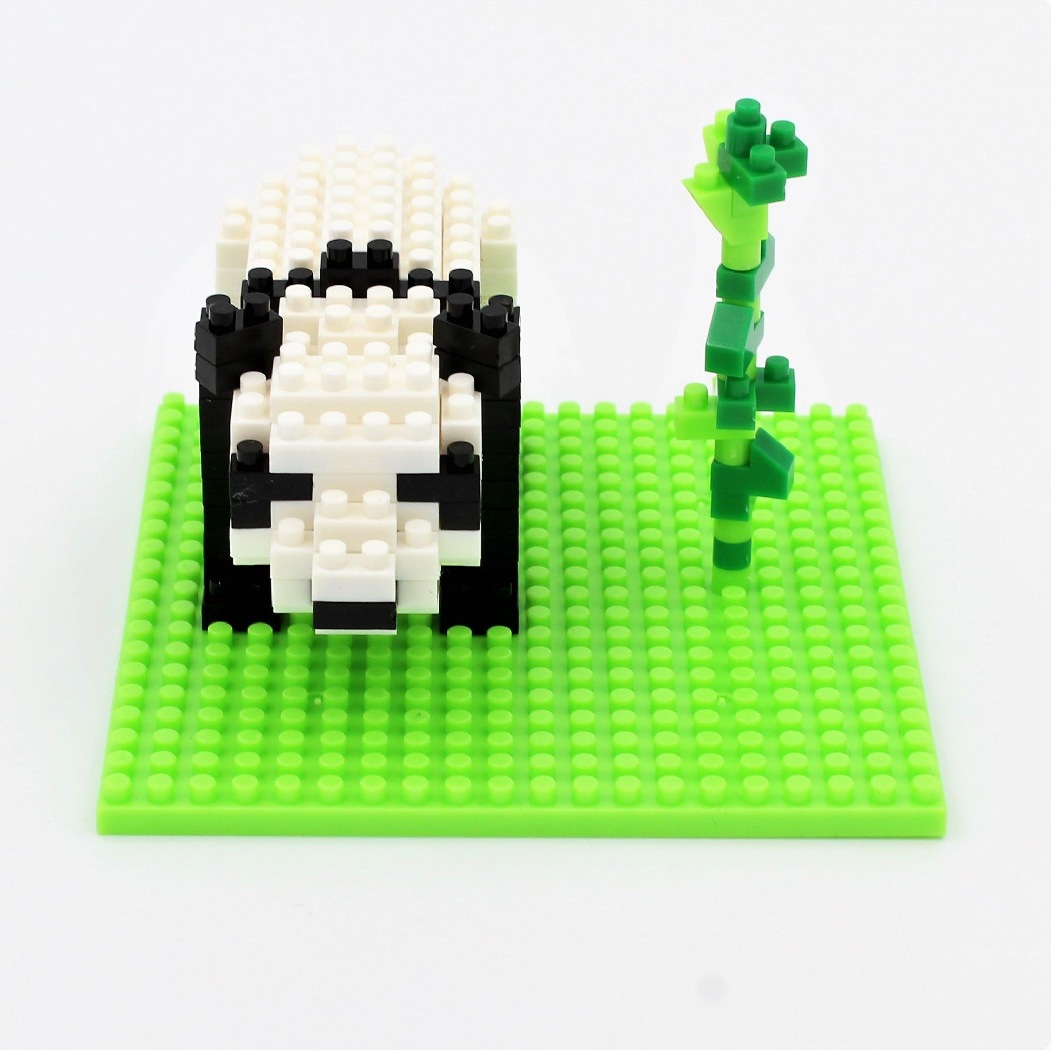 Set constructie Microbricks panda 157 piese