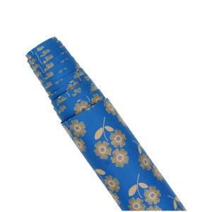 Hartie pentru ambalat cadouri Kraft Vintage 200x70 cm Blue flowers