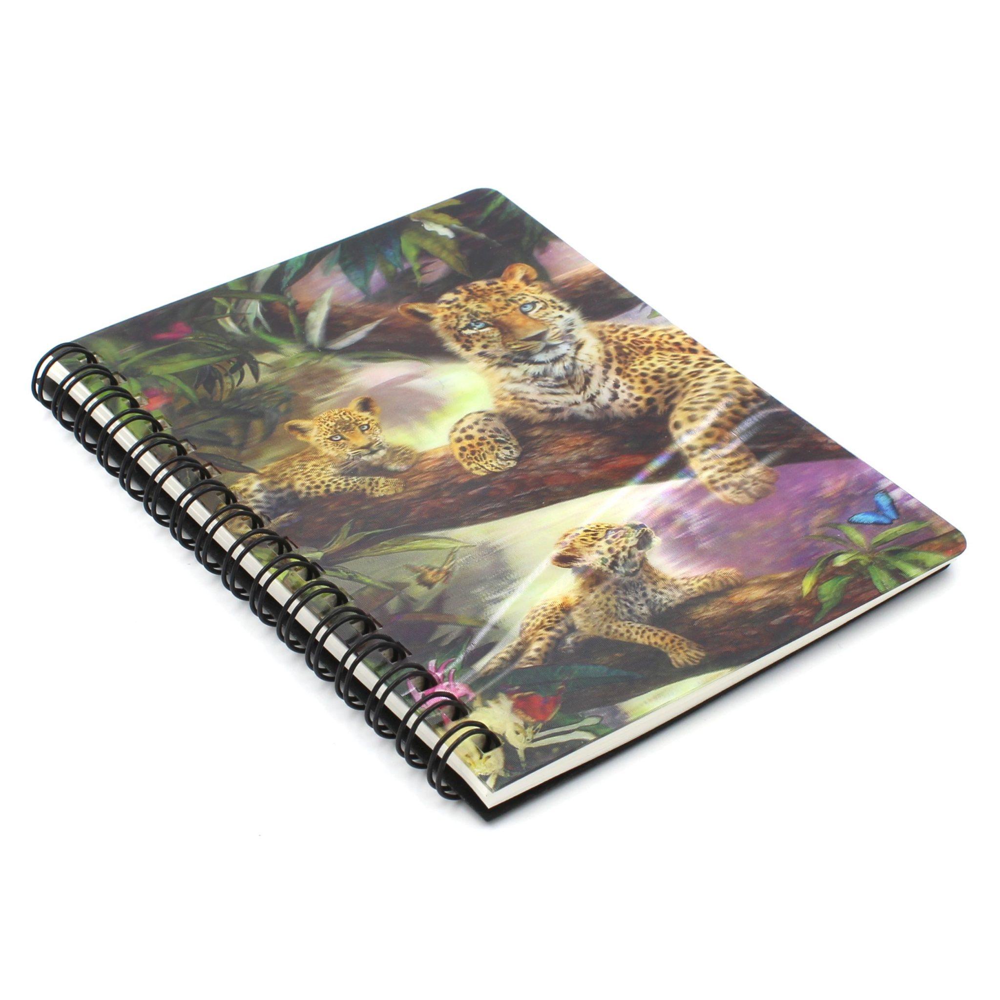 Carnetel zoo spirala 3D Treetop leopards