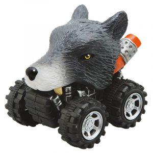 Mașinuță cu sistem friction lup multicolor