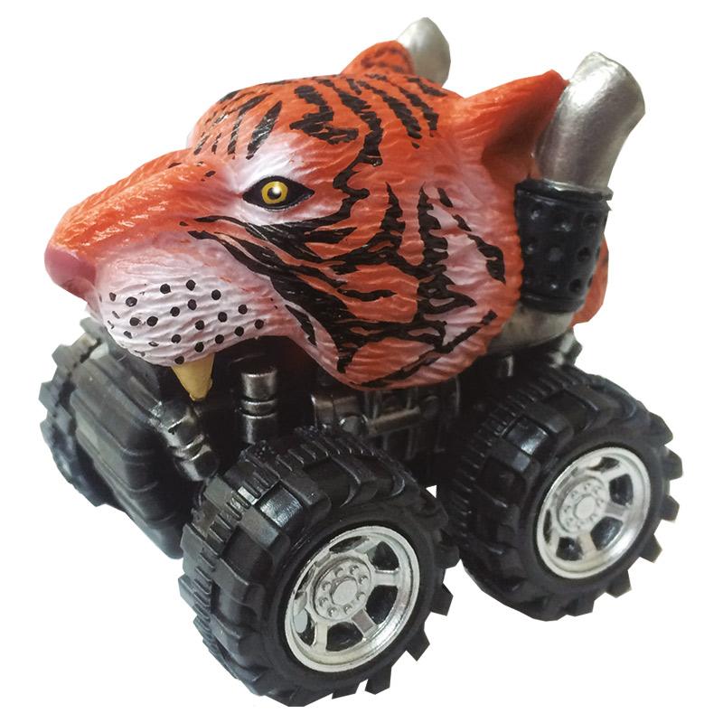Mașinuță cu sistem friction tigru multicolor
