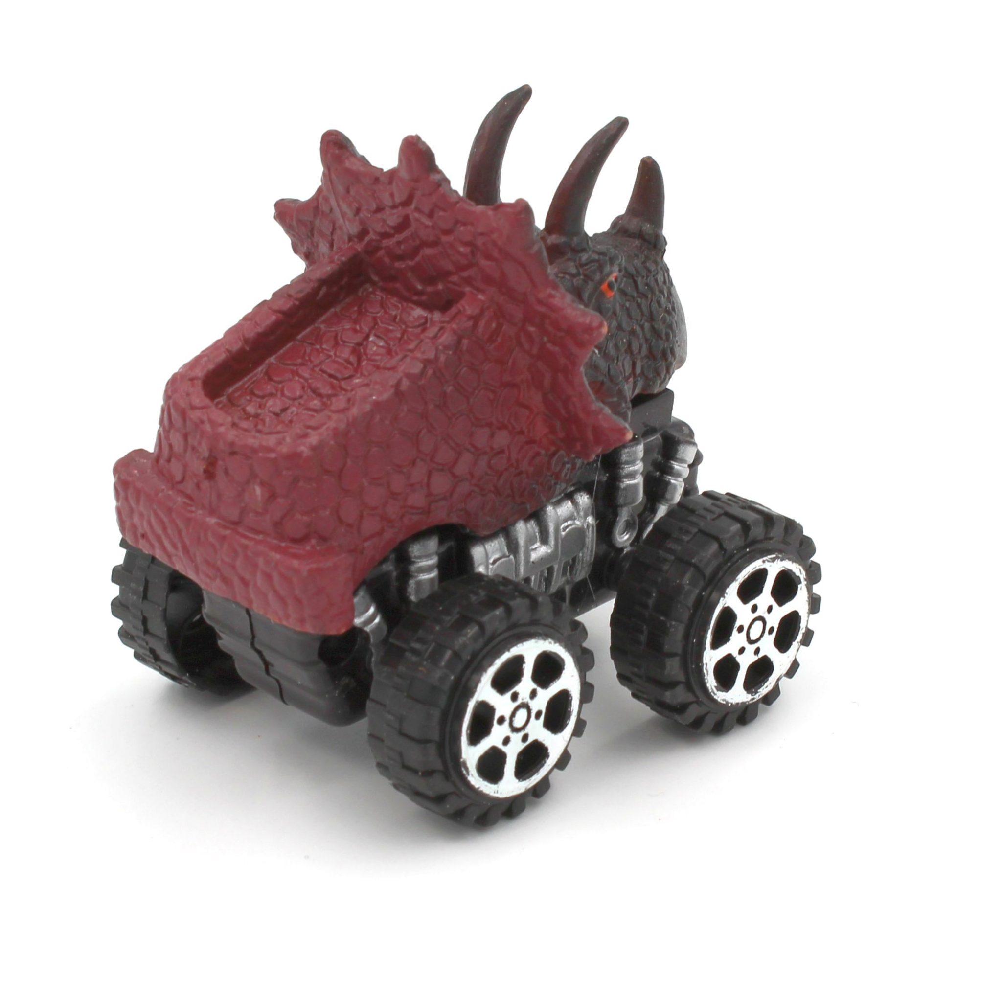 Mașinuță cu sistem friction triceratops multicolor