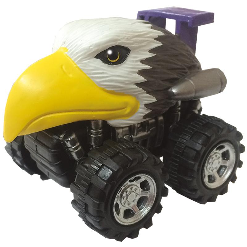 Mașinuță cu sistem friction vultur multicolor