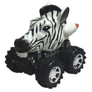 Mașinuță cu sistem friction zebra multicolor