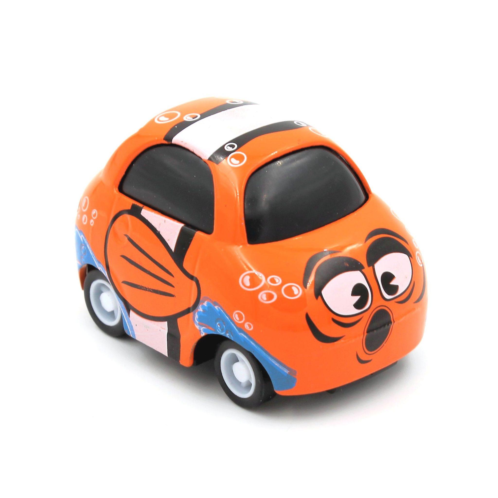 Mașinuță cu sistem pull-back clown-fish
