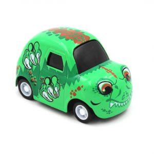Mașinuță cu sistem pull-back dinozaur verde