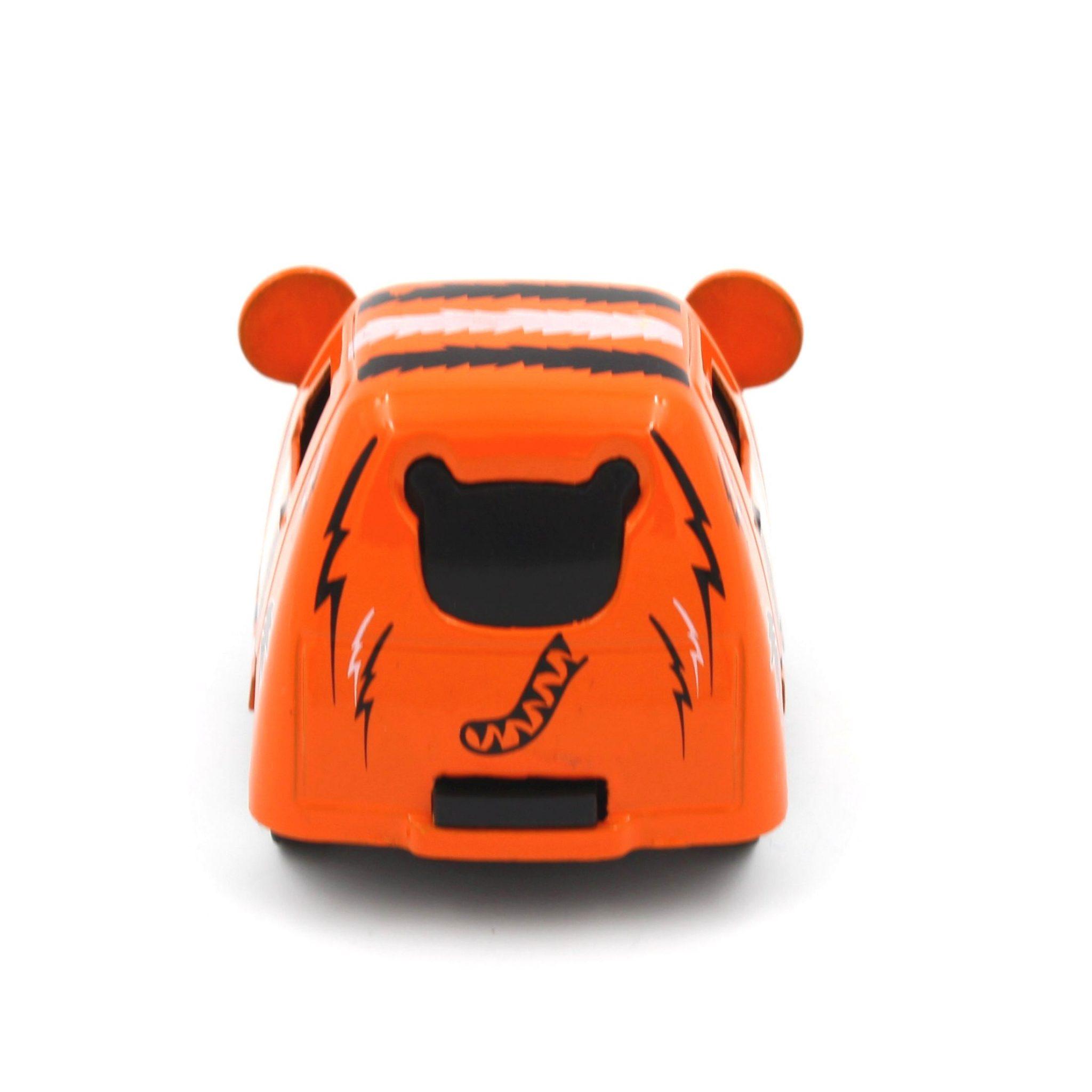 Mașinuță cu sistem pull-back tigru portocaliu