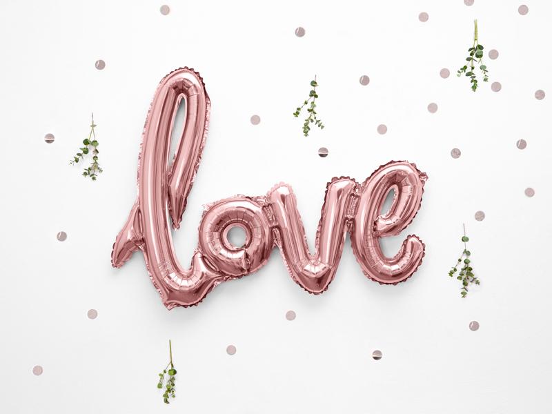 Balon party Love roz 73x59 cm