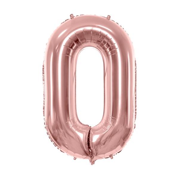 Balon party cifra 0 roz 35cm