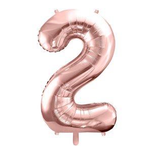 Balon party cifra 2 roz 35cm