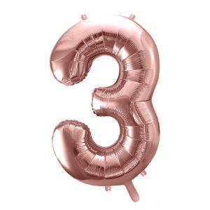 Balon party cifra 3 roz 35cm