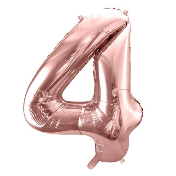 Balon party cifra 4 roz 35cm
