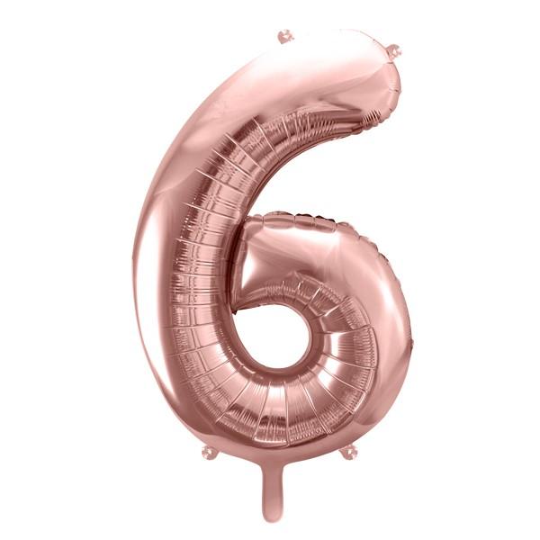 Balon party cifra 5 roz 35cm