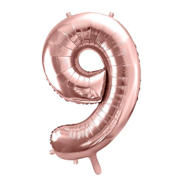 Balon party cifra 9 roz 35cm