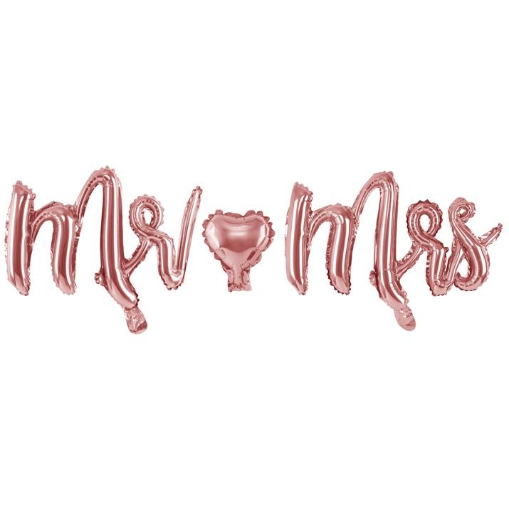 Balon party roz Mr&Mrs 36x125 cm