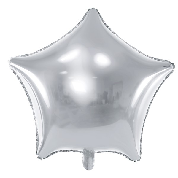 Balon party stea argintie 48 cm