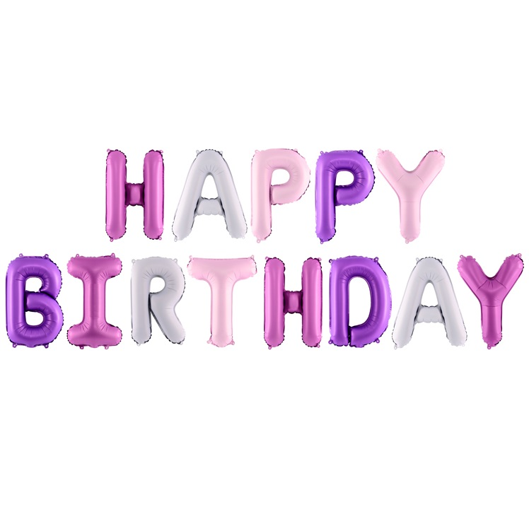 Balon party Happy Birthday mix 340x35cm