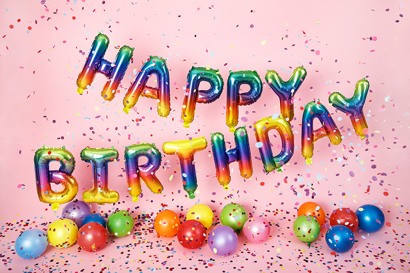 Balon party Happy Birthday curcubeu 340x35cm