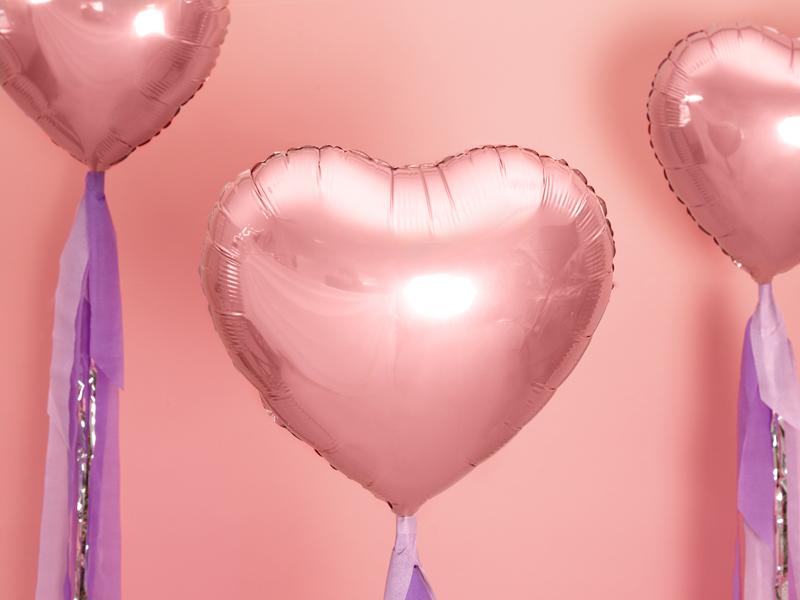 Balon party inima roz 45 cm