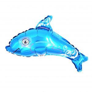 Balon zoo pentru copii Delfin albastru