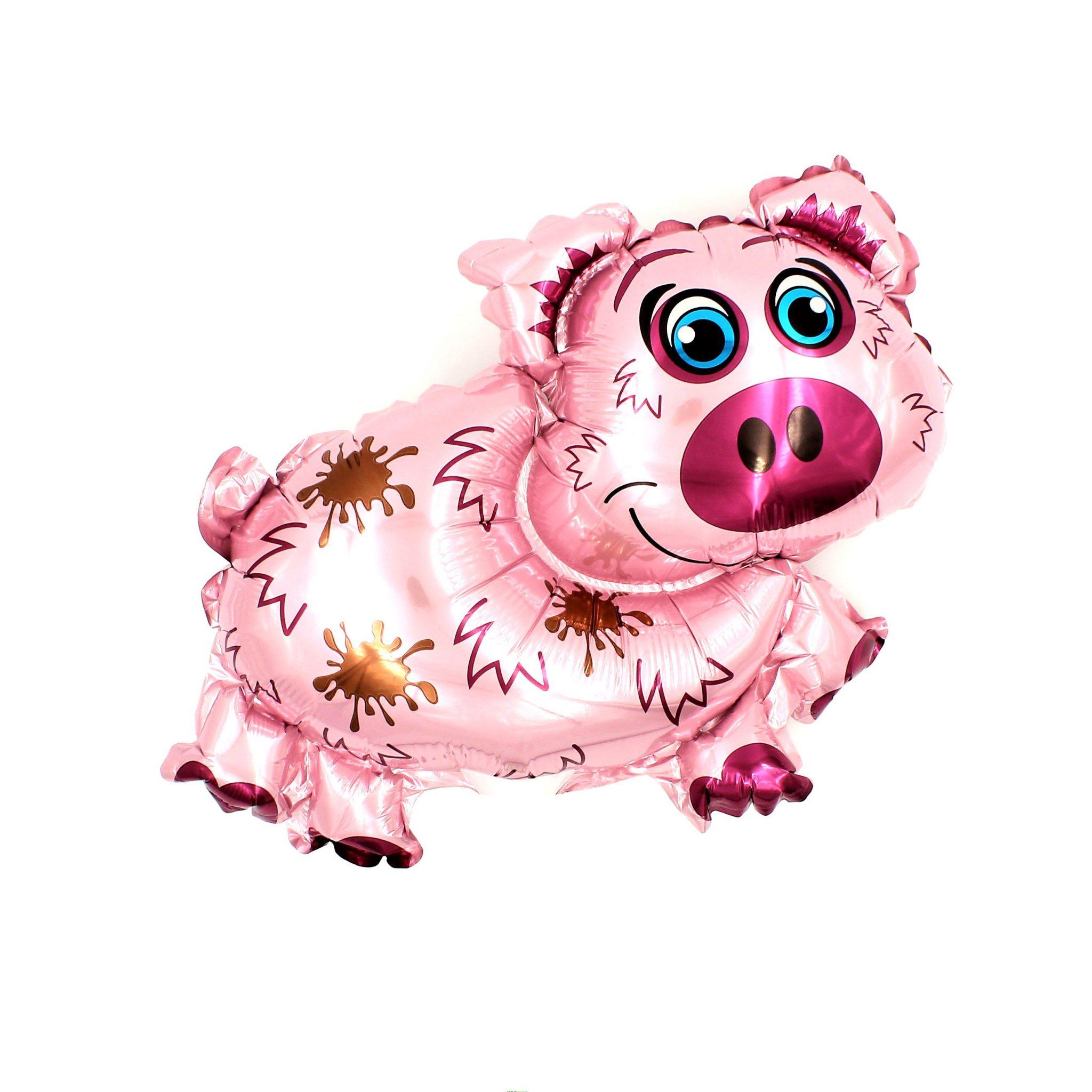 Balon zoo pentru copii Purcelus roz