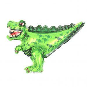 Balon zoo pentru copii T-rex verde