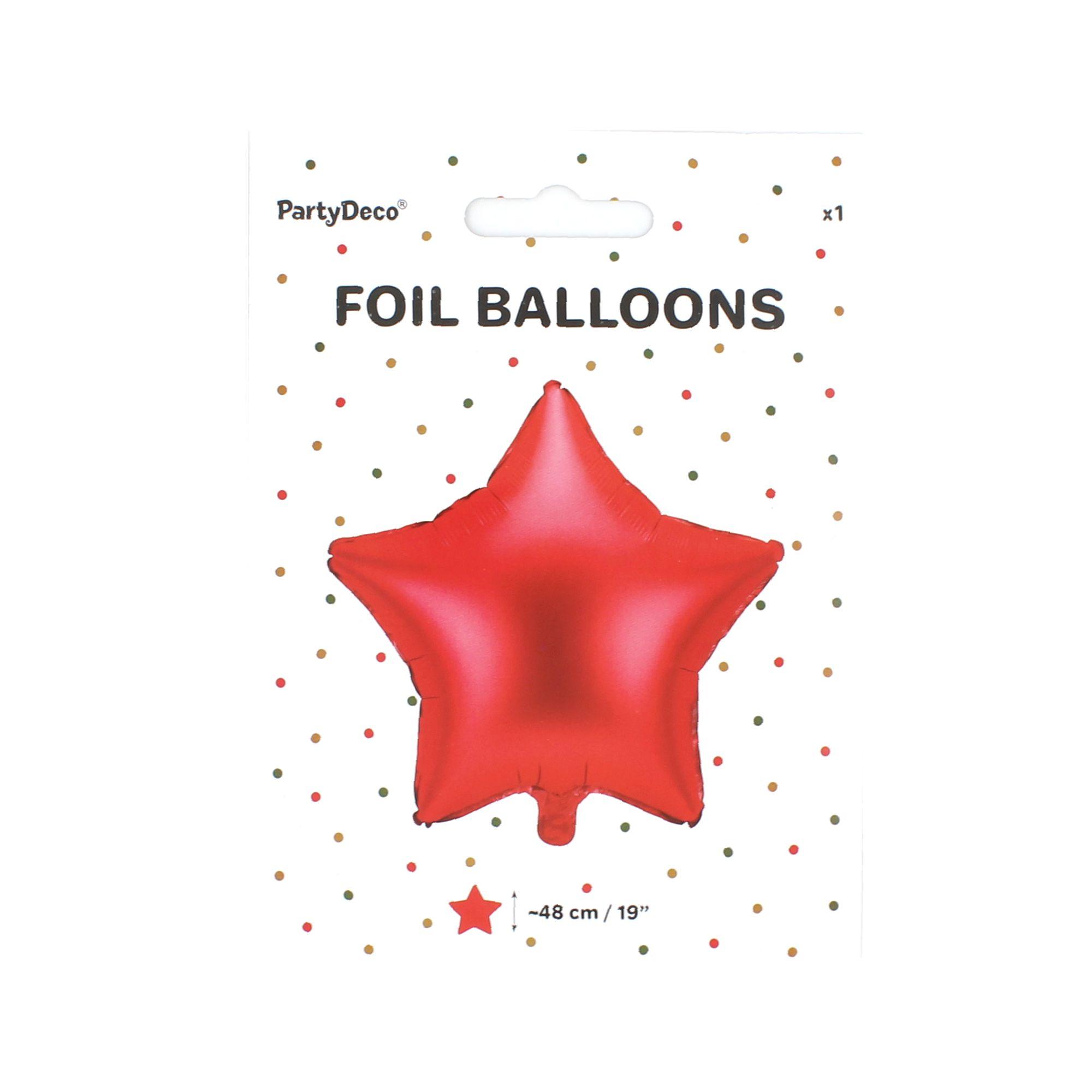 Balon party stea rosie 48 cm