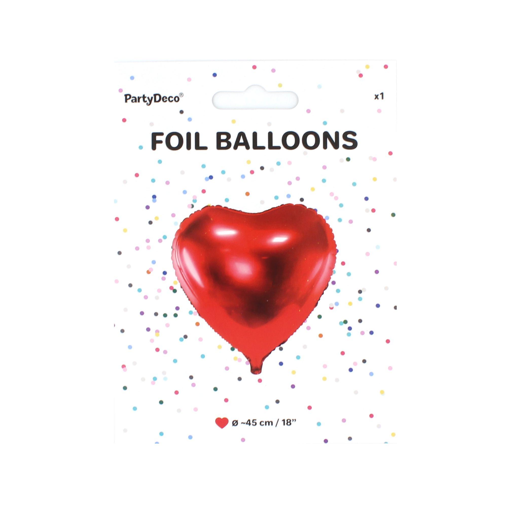 Balon party inima rosie 45 cm