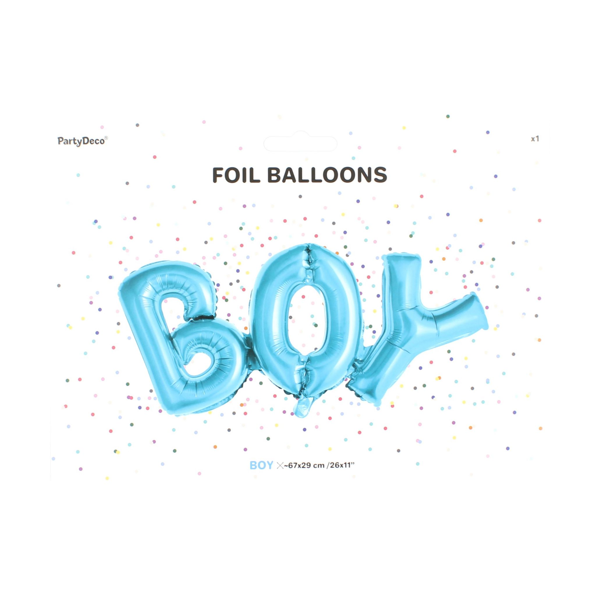 Balon party boy albastru 67x29 cm