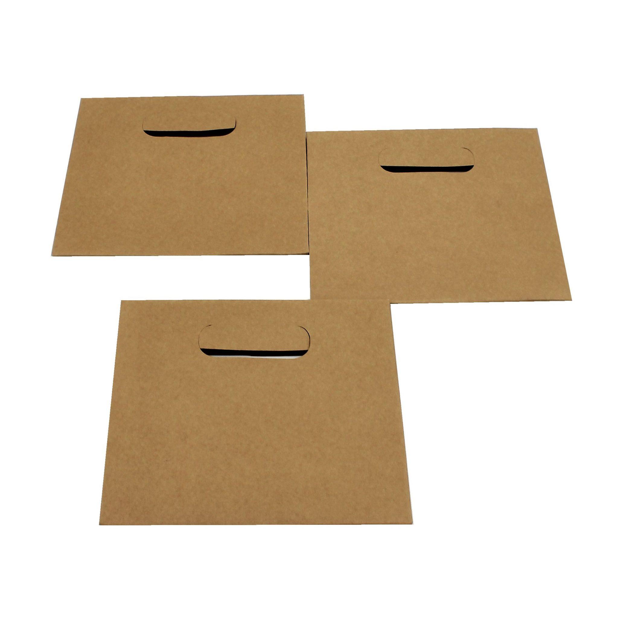 Set 10 pungi cadou kraft 15x14x7cm