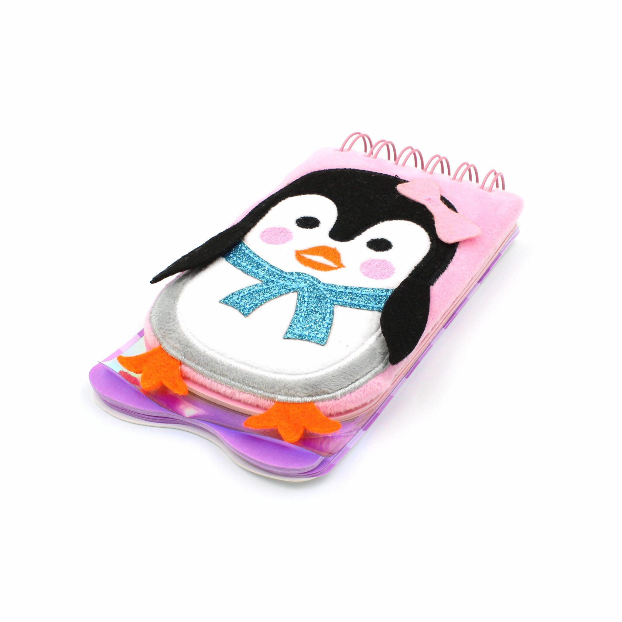 Carnetel 3D Pinguin multicolor 80 pagini