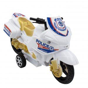 Motocicleta de jucarie sistem friction alb