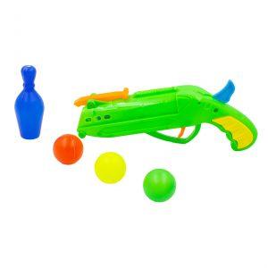 Pistol cu bile jucarie Ping-Pong verde