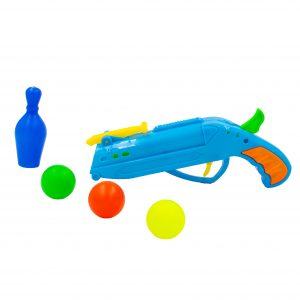Pistol cu bile jucarie Ping-Pong albastru