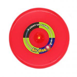 Disc zburator frisbee rosu 25cm cu led