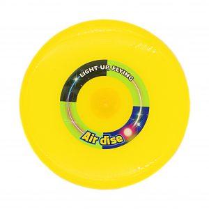 Disc zburator frisbee galben 25cm cu led.