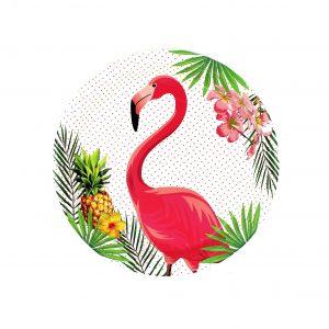Set 8 farfurii 23 cm Flamingo