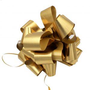 Funda cadou gigant cu autoformare auriu